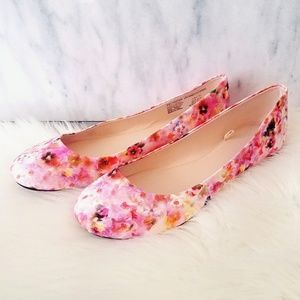 New Shoes Flat Loafers Floral Pink 9.5 Ladies